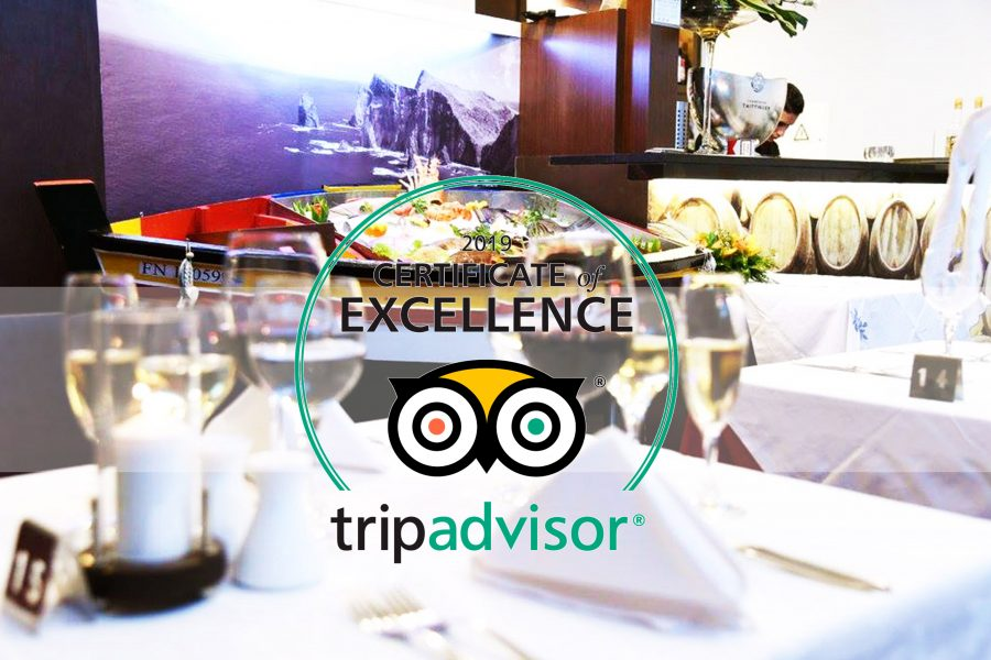 TRIPADVISOR – CERTIFICATE OF EXCELLENCE